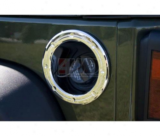 Chromed Fuel Cover Ring By Rugged Ridge