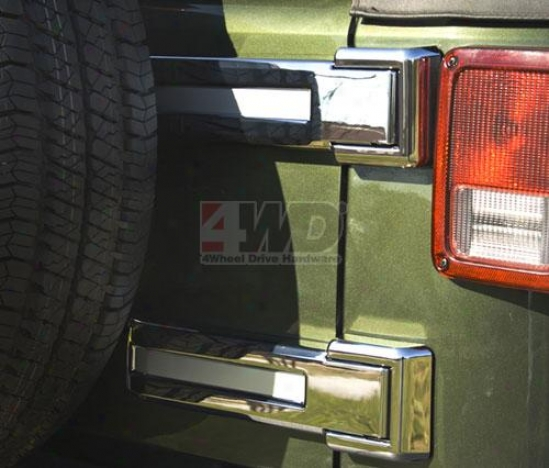 Chromed Tailgate Hinge Covers By Rugted Ridge