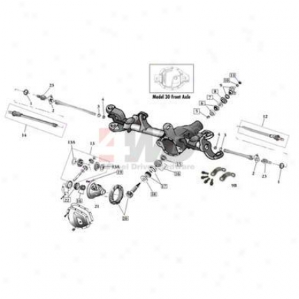 Dana 30 Passenger Side Axle Shaft Assembly