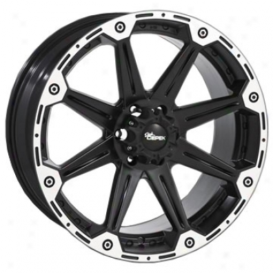 Dc Trque Alloy Wheel Flat Black 8-spoke By Dick Cepek