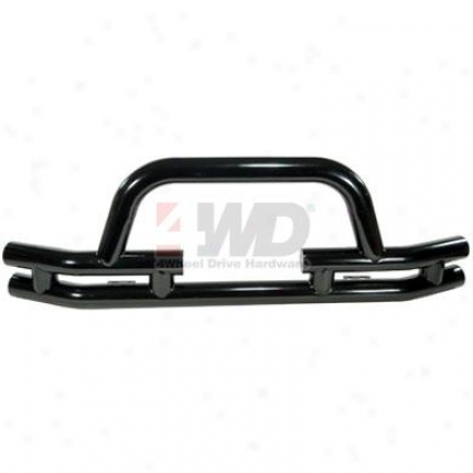 Dual Tube Front Winch Bumper With Center Hoop By Rugged Ridge?