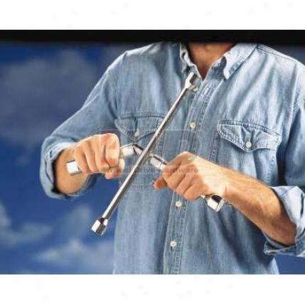 Fold Down Four-way Lug Wrench