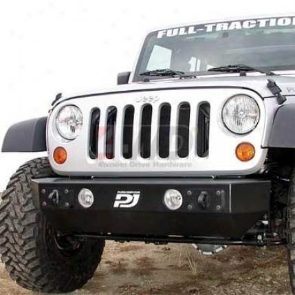 Front Stubby Flat-top Crawler Non-winch Bumper By Purejeep