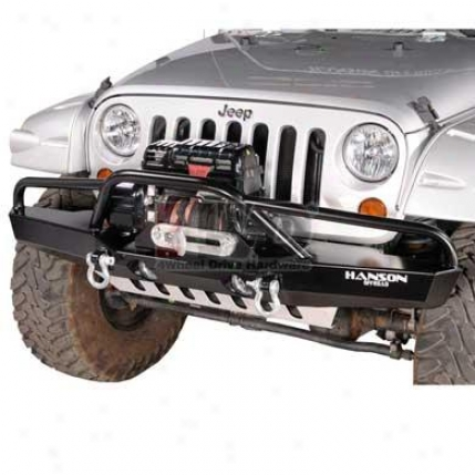 Fullsize Fenderbar Winch Bumper With Light Provisions By Hanson Offroad