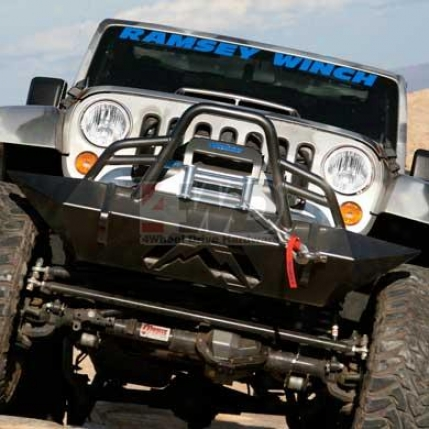 Hardcore Winch Bumper With Grille Guars By Fab Fours