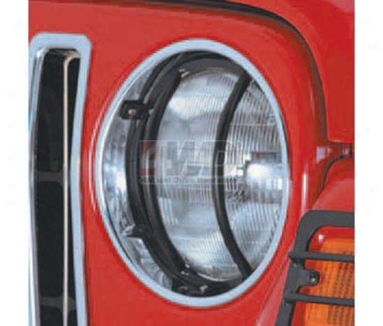 Headlight Euro Guards By Rugged Ridge