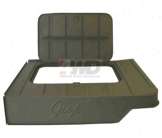 Jeep Logo Tool Compartment By Omix-ada