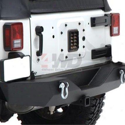 Jk Wrangler Xrc Armor Rear Bumper With Hitch And Tire Carrier By Smittybilt