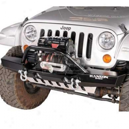Medium Winch Guard Bumper With Light Provision By Hanson Offroad
