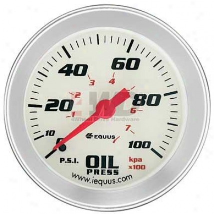 Performance White Face Oil Pressure Involuntary Gauge By Equus