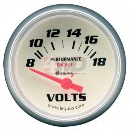 Performance White Face Voltmeter Measure  By Equus
