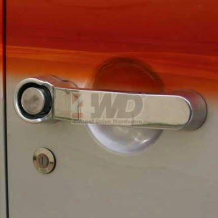 Polished Chrome Jk Door Handle By Rampage