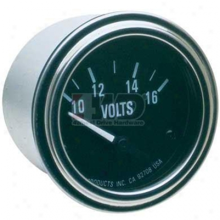 Pro Series Electrical Voltmeter Gauge By Equus