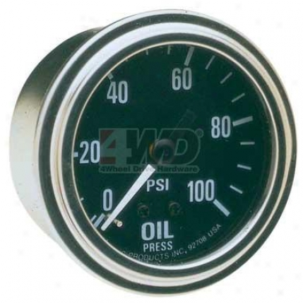 Pr Series Mechanical Oil Pressure Gauge By Equus