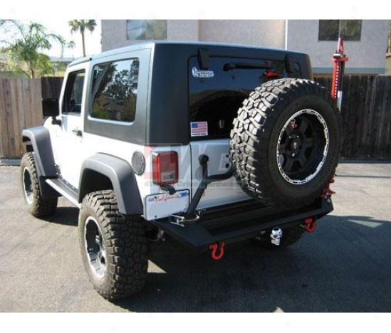 Rear Bumper With Tire Carrier By Fab Fours