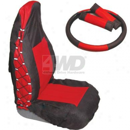 Rear Seat Cover/2 Belt Pads By Rampage
