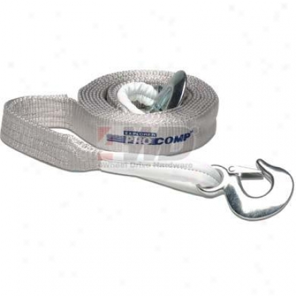 Recovery Tow Strap With Hooks Along Pro Comp