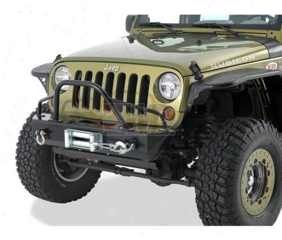 Rock Crawler Front Stubby Bumper Through  Winch Mount And D-ring Mounts By Warrior Products