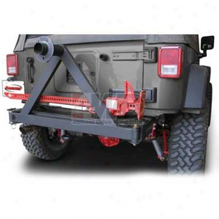 Rock Gear Rear Off-road Bumper With Tire Carrier By Rancho
