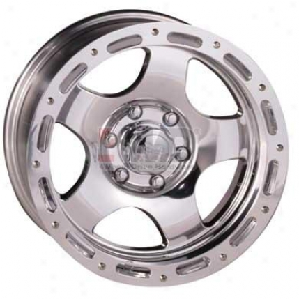 Series 1023 Polished Combination  5-spoke Street Lock Wheel By Pro Comp