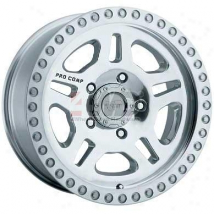 Series 1028 Polished 5-spoke Simulated Bead Lock Wheel By Pro Comp