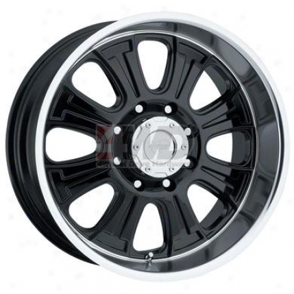 Series 5806 Gloss Black 8-spoke Wheel By Pro Comp