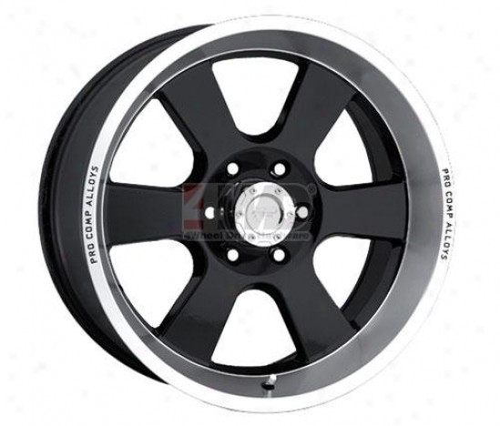 Series 8107 Gloss Black Classic 6 Spoke Wheel By Pro Comp