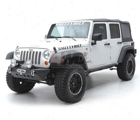 Src Classic Rock Craqler Frontt Bumper With Winch Plate By Smittybilt