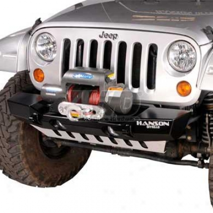 Stubby Basic Winch Bumper With Light Provision By Hanson Offroad