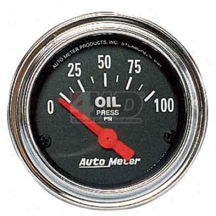 Traditional Chrome Series Oil Pressure By Auto Meter