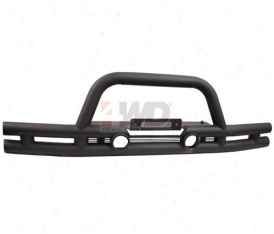 Tube Bumper Come before With Winch Mount By Rugged Ridbe