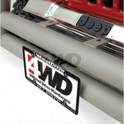 Tubular Bumper License Plate Bracket By Omix