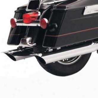 4 Scalloped Slash Cut Slip-on Mufflers