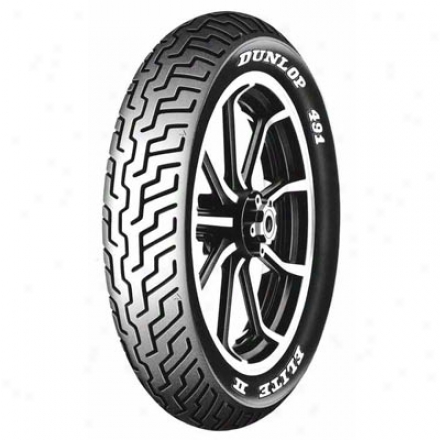 491 Elite Ii Touring White Lett3r Front Tire