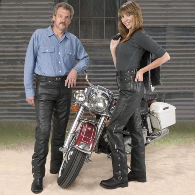 5-pocket Leather Pants