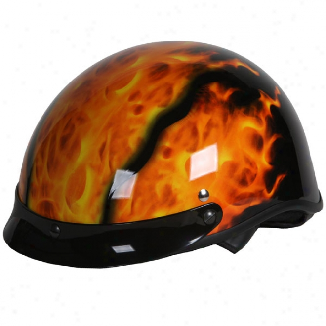 A-4 Real Flame Half Helmet