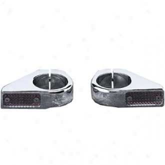 Chrome Billet Fork-mount Marker Lights