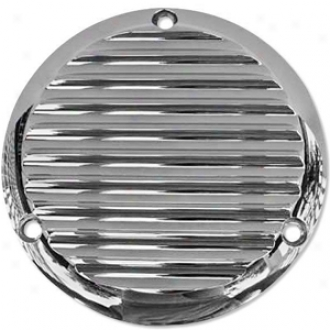 Cgrome Finned Billet Derby Cover