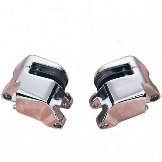 Chrome Front Dual-disc Caliper Set