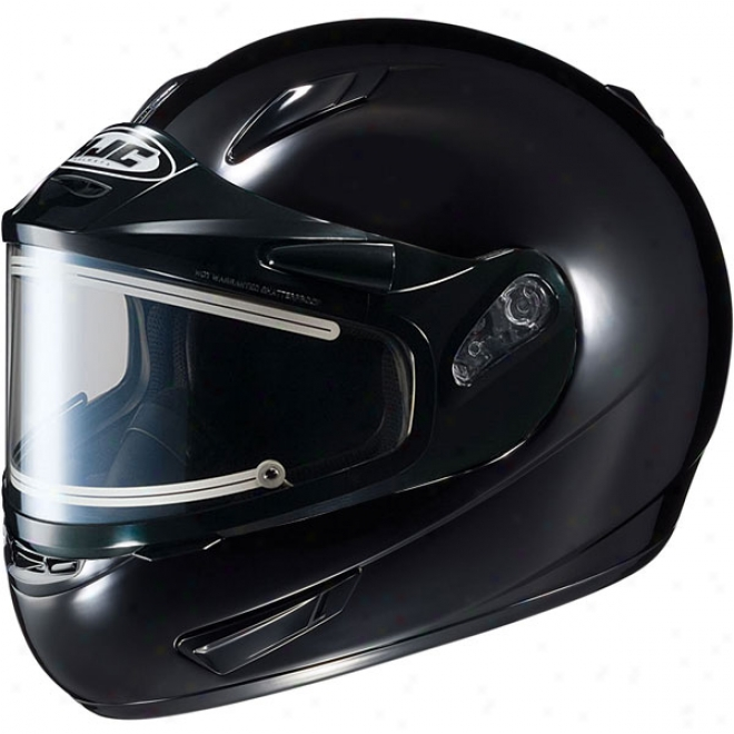 Cl-15 Sn Solid Snow Helmet With Lightning-like Shield