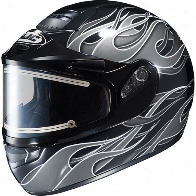 Cs-r1 Sn Inferno Snow Helmet With Electric Shield