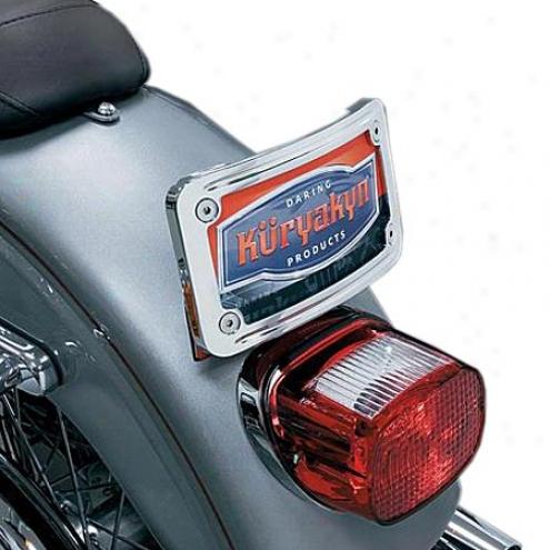 Curved Tip-back Licrnse Plate Frame