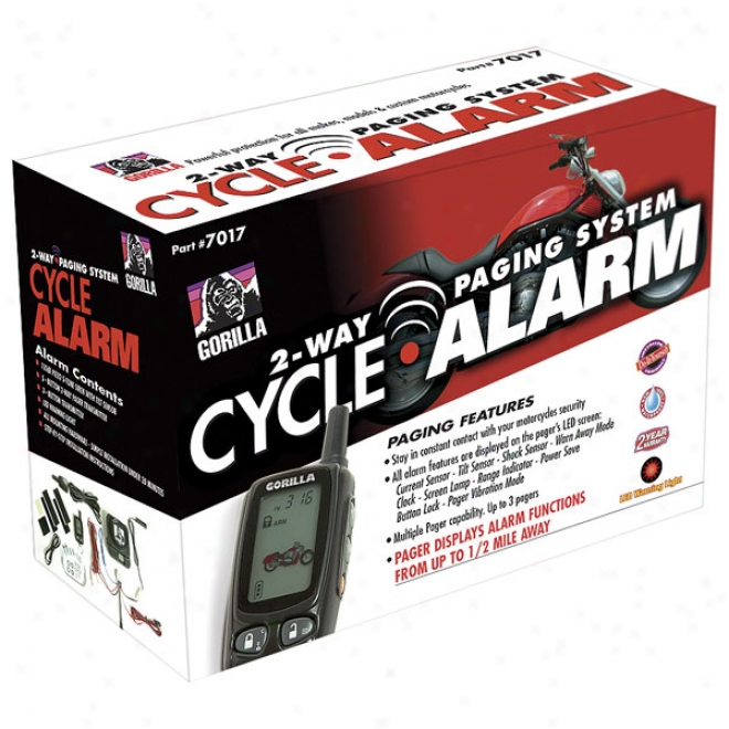 Cycle Alarm With 2-way Paging System