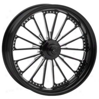 Domino One-piece Contrast-cut Aluminum Front Wheel