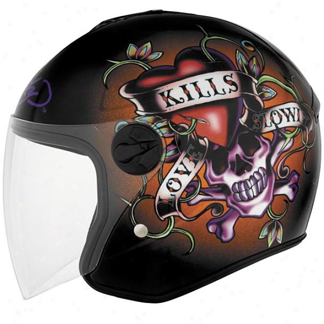 Ed Hardy Delight Kills Slowly Ofs Helmet