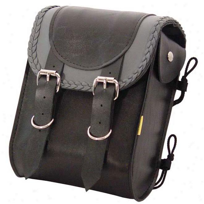 Grey Thunder Braided Sissy Bar Bag