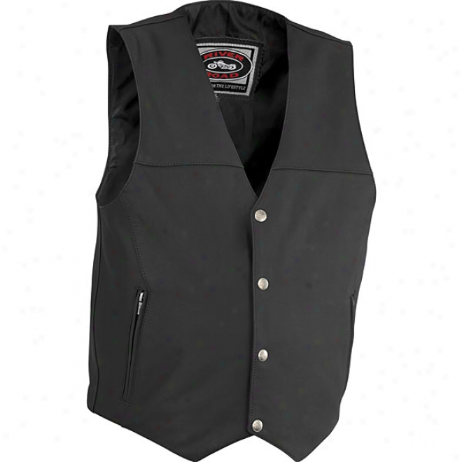 Mens Granite Leatyer Vest