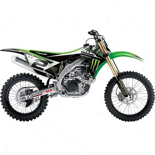 Monster Kawasaki Replica Graphic Kit - 2009