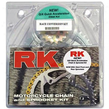 Quick Acceleration Chain Kits With Lightweight Steel Sprockets