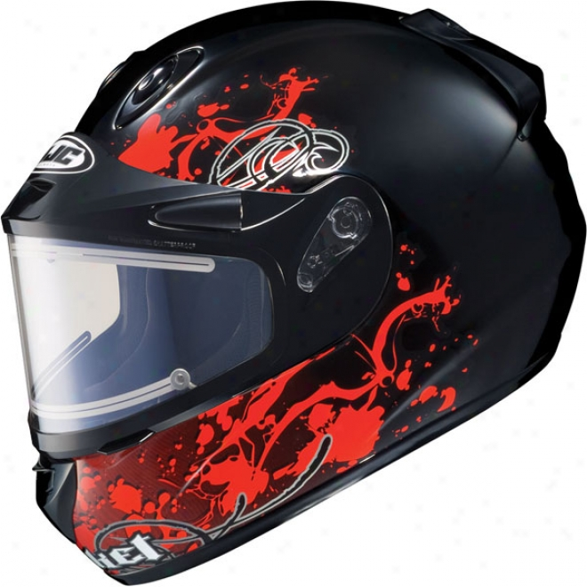 Rkt 101 Sn Stain Snow Helmet With Electric Shield